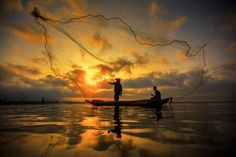 Fisherman | Bangpra Lake | Thailand | Photo By Anek S