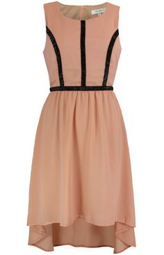 Nude Art Deco Dress