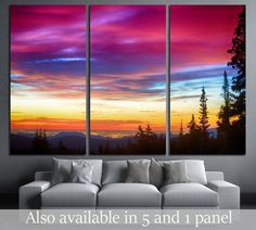 A beautiful colorful epic sunrise over the city lights of Boulder Colorado Ready to Hang Canvas Print Push Pin World Map, Water Color World Map, Canvas Art, Canvas Prints, Boulder Colorado, Landscape Walls, Beach Print, Office Art, City Lights