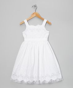 White Eyelet Daisy Dress - Toddler & Girls