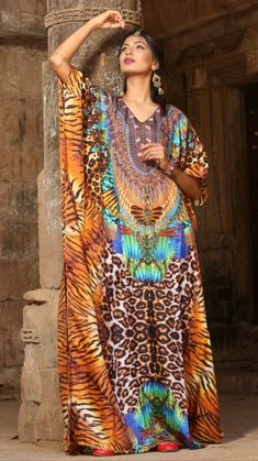 Elegant ,Gorgeous & Beautiful High End Resort Wear/Beach WearBuy with confidence, Please view Our Customer RatingWe Sell Best Quality Silk kaf. Maxi Kaftan, Silk Kaftan, Long Kaftan, Silk Dress, Resort Wear For Women, Maxi Styles, Amazing Outfits, Feather Print, Kaftans