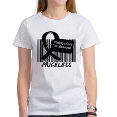 Melanoma Cure Women's T-Shirt #melanoma #melanomaawareness #melanomashirts