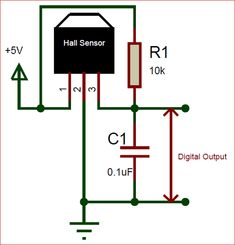 A hall-effect sensor as then name suggests works with the principle of hall-effect and is used to detect magnets. Each side of the sensor can detect one particular pole. Electronics Basics, Electronics Components, Electronics Projects, Electronic Circuit Design, Inverter Ac, Hall Effect, Engineering Technology, Data Sheets, Circuit Board