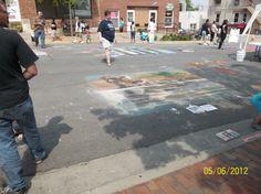 "Annual ""Chalk The Walk"" Mount Vernon Iowa 2012 - photo by Deborah Goodlove"