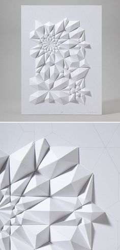 White paper origami on white board Diy Deco Rangement, Paper Engineering, Paper Folding, Origami Paper, Decorating Blogs, Geometric Shapes, 3d Shapes, Textures Patterns, Arts And Crafts