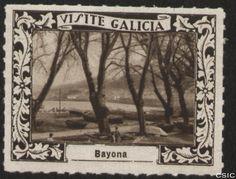 Bayona (Pontevedra) : [Viñeta con imagen del amarre de las barcas pesqueras en Bayona] / [fotógrafo, Luis Casado Fernández]. http://aleph.csic.es/F?func=find-c&ccl_term=SYS%3D001528793&local_base=MAD01