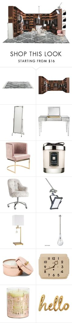 """""""Toutountzidou Barbara"""" by barb13nd on Polyvore featuring interior, interiors, interior design, home, home decor, interior decorating, Eichholtz, Jo Malone, PBteen and Louis Vuitton"""