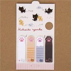 copy - Kutusita Nyanko Post-it bookmark sticker cat paw
