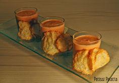 patissi patatta: Crème de poivrons et chips au parmesan