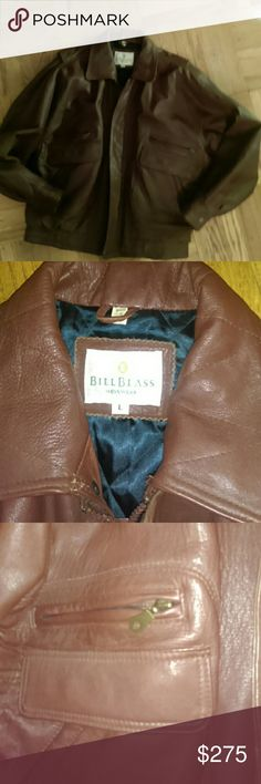 Bill Blass Leather Jacket Gently used...rich in color...nice n heavy....wear this with the right car n nice jeans....yes!!!..buy it Bill Blass Jackets & Coats