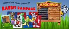"""""""RABBIT RAMPAGE from Razamatazz Magic. Great effect fro children's entertainers featuring a naughty magic rabbit that vanishes and finally appears in his hutch by magic - Available from http://www.razamatazzmagic.com/magicshop_001/products.php?Product=170&Title=Rabbit_Rampage"""