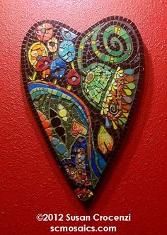 Mosaic -- from the website of Susan Crocenzi, Contemporary Mosaic Art.  Gorgeous.