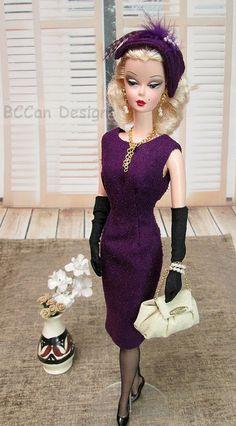 214 - Silkstone Fall Fashion Eggplant 15 | BCCan Designs OOAK fashion for Barbie Silkstone