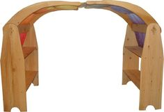 Willow Toys Brand Waldorf Playstands Set comes with all that is in the photo, but not the playsilk. You get both sides of this stand Childs wooden toy