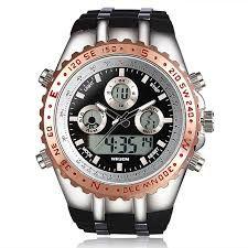Uno de los relojes de hombres mas avanzados de 2015 es un reloj normal y digital en el medio