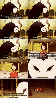 The Legend of Korra/ Avatar the Last Airbender. Wan Shi Tong is great! This part was so funny! And then he turned out to be working for Unalaq. Avatar Airbender, Avatar Aang, Avatar Funny, Team Avatar, Zuko, Legend Of Aang, Avatar Series, Studio Ghibli, Fire Nation