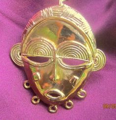 14K African  Glory  Mask no 14  authentic African by chisseko