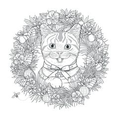 Mandala Cat By KchungFrom The Gallery MandalasArtist Kchung Source 123rf Adult Coloring PagesColoring