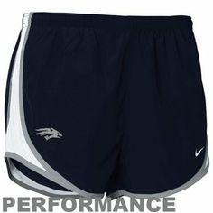 Nike Nevada Wolf Pack Ladies Navy Blue NikeFIT Tempo Performance Training Shorts
