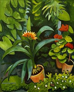 AUGUST MACKE (1887-1914)  Flowers in the Garden