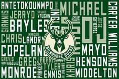 Really dope Milwaukee Bucks graphic.