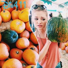 Pretty Picture Of Olivia Holt With A Pumpkin October 19, 2014