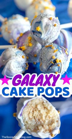 Swirling stars and vibrant colors make these Galaxy Cake Pops a wow-worthy party. Swirling stars and vibrant colors make these Galaxy Cake Pops a wow-worthy party. Swirling stars and vibrant colors ma. Star Wars Cake Pops, Star Wars Cake Toppers, Raspberry Smoothie, Apple Smoothies, Galaxy Cake, Buckwheat Cake, Recipe For Teens, Vegetarian Cake, Easy Baking Recipes