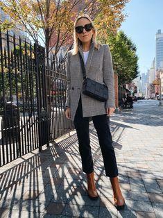 Damsel in Dior Summer Work Outfits, Fall Outfits, Dior, Without Dress, A New York Minute, Plaid Blazer, Fall Wardrobe, Bottega Veneta, Autumn Winter Fashion