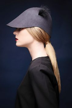 Womens felt visor /  Handmade hat /  Womens hat / by JustineHats