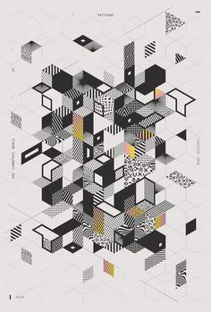 Complex but nice dynamics in this poster design. Illustration Design Graphique, Art Graphique, Graphic Illustration, Graphic Design Posters, Graphic Design Inspiration, Typography Design, Graphisches Design, Deco Design, Cube Design