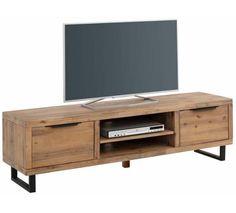 Vinnie TV-bord med to låger - Acacie - TV-bord i FSC certificeret træ