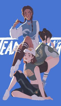 Team Avatar - Girls, an art print by Pauline - INPRNT