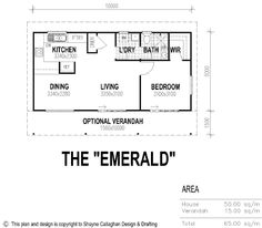 The Emerald Granny Flat Floor Plan