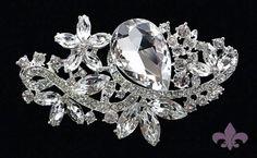 """3 3/16"""" by 1 7/8"""" Rhinestone Brooch Pin  Rhinestone Crystal Brooch  by SupplyWorld, $17.95"""