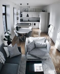 Small Apartment Living Room Layout Ideas is part of Small Living Room Ideas - While placing these units it will always be seen that the furniture obstructs the pencil travel lines drawn in the […] Small Apartment Living, Small Apartment Decorating, Small Living Rooms, Modern Living, Small Living Room Ideas On A Budget, Kitchen Decorating, Small Apartment Layout, Minimalist Living, Small Loving Room Ideas