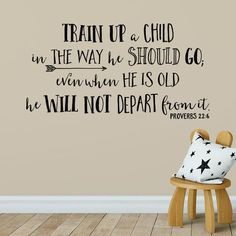 This Proverbs 22:6 Train up a child in the way he should go wall is just one of the custom, handmade pieces you'll find in our wall decals & murals shops.