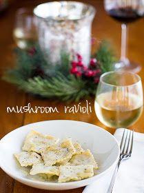 Chasing Some Blue Sky: Mushroom Ravioli with White Wine Sauce. I paired it with chicken marsala ravioli. Sauce tastes like my Mom's fondue.
