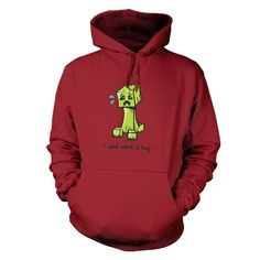 Play.com - Buy Men's Hug Me Creeper - Inspired By Minecraft Hoodie (Bordeaux) online at Play.com and read reviews. Free delivery to UK and Europe!