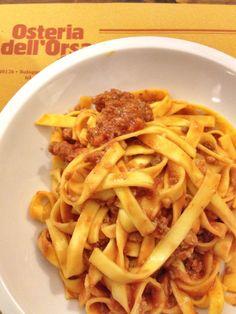 Tagliatelle al ragù - Osteria Dell'Orsa (Bologna)