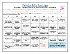 Thompson Raffle Fundraiser CALENDAR FINAL