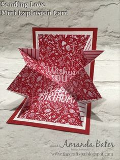 The Craft Spa - Stampin' Up! UK independent demonstrator : Mini Explosion Card for Fancy Fold Friday