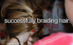 successfully braiding hair