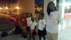 Greeters at Allure Condominiums downtown Ft. Myers. It was nice meeting all the new people! #bgclc #christmascarols #lehigh