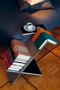 Lovely, modern, and just right for bedside or chairside--By: Nils Holger Moormann Would not suit in my home, but this is a practical, functional and appealing design Diy Furniture, Furniture Design, Modern Furniture, Oversized Furniture, Multifunctional Furniture, Furniture Chairs, House Furniture, Modern Sofa, Furniture Plans