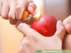 How to Make an Apple Pipe How To Clean Bong, Bongs, Fruit, Weed, Diy, Smoke, Studio, Bricolage