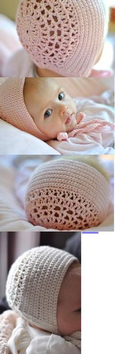Blessing Day Bonnet_Crochet Pattern_AestheticNest   http://www.aestheticnest.com/2011/01/crochet-blessing-day-bonnet-in-blush.html