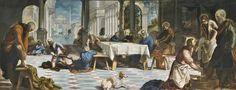 El lavatorio/ Foot washing // 1548 - 1549 // TINTORETTO, JACOPO ROBUSTI // La obra está pensada para ser vista desde el lateral derecho.
