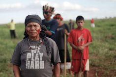 """Em filmagens feitas pelos próprios Guarani e Kaiowá é possível ver uma centena de homens armados, queimando motos e demais posses dos indígenas. A maioria dos indivíduos está vestida com um uniforme preto; nas filmagens, é possível ouvir gritos de: """"Bugres! Bugres!"""", forma pejorativa usada para se referir aos indígenas na região sul do país. Caminhonetes circulam como moscas ao redor dos homens de preto e das enormes fogueiras."""