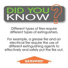 Fire Extinguisher Safety. Do you know how to use one? #fire #safety #servpro