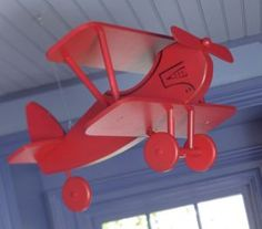 Pottery barn kids Red hanging Airplane - Calgary Baby Items For Sale - Kijiji Calgary Canada.